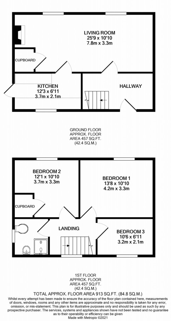 3 bed semi-detached house for sale in Wind Hill, Charing Heath, Ashford - Property Floorplan