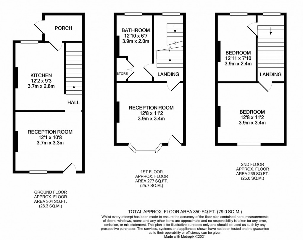 3 bed terraced house for sale in Hartnup Street, Maidstone - Property Floorplan