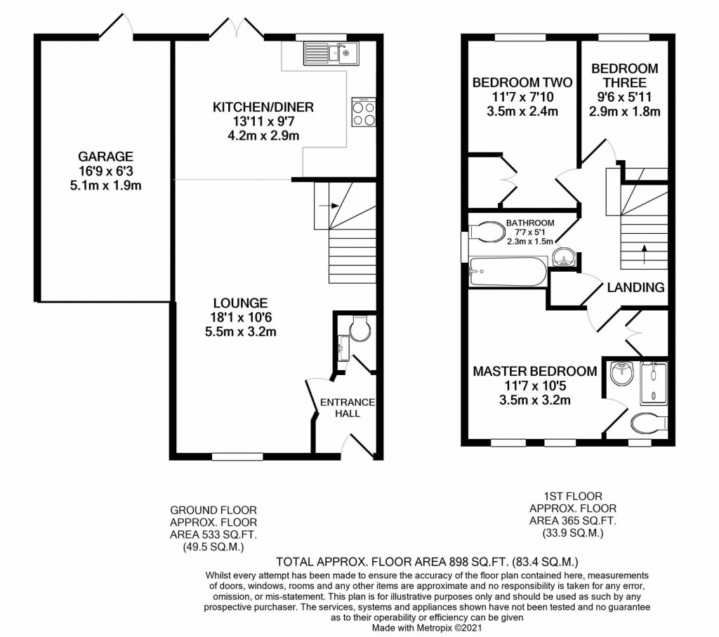 3 bed detached house for sale in Smithy Drive, Park Farm, Ashford - Property Floorplan