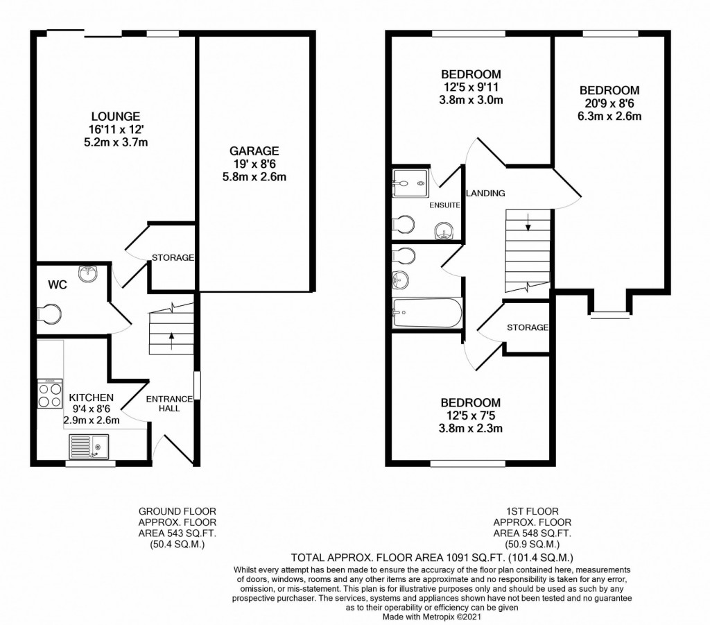 3 bed semi-detached house for sale in Lodge Wood Drive, Orchard Heights, Ashford - Property Floorplan