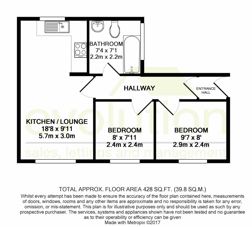2 bed flat to rent in Bradstone Avenue, Folkestone - Property Floorplan