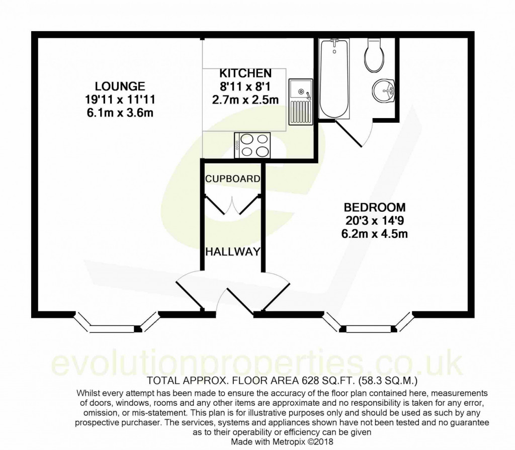 1 bed apartment to rent in Whitfeld Road, Ashford - Property Floorplan