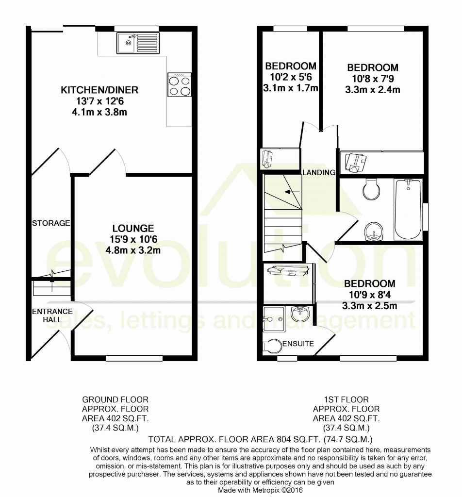 3 bed end of terrace house for sale in Smithy Drive, Kingsnorth, Ashford - Property Floorplan