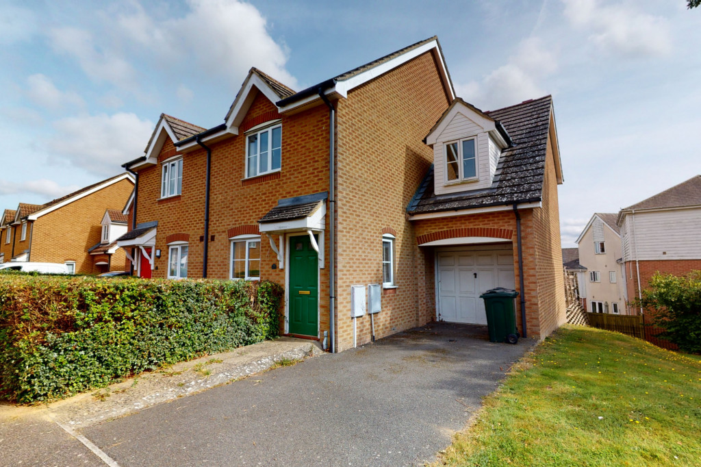 3 bed semi-detached house for sale in Lodge Wood Drive, Orchard Heights, Ashford - Property Image 1