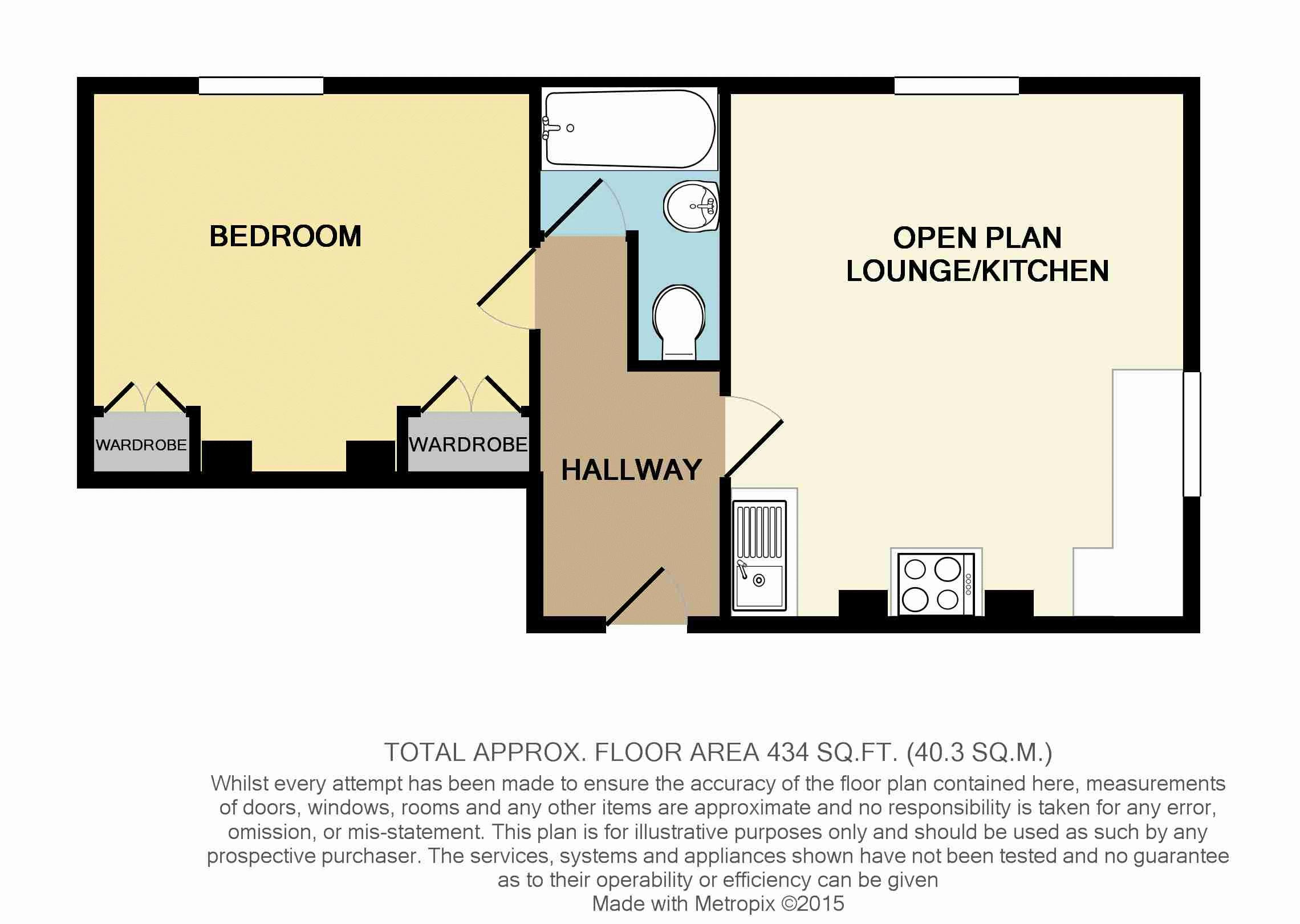1 bed flat for sale in 80 Prospect Hill, Redditch - Property Floorplan