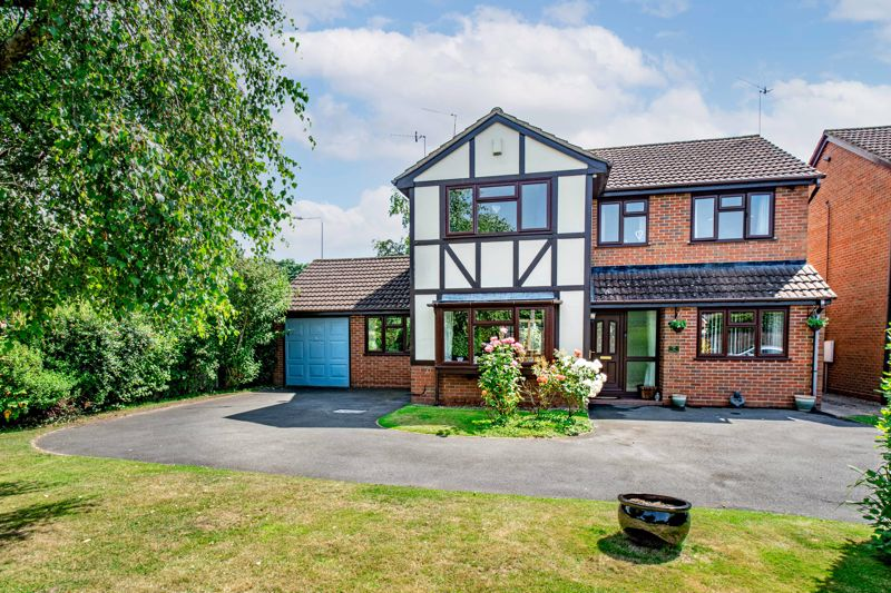 <br/><br/>A beautifully presented, four-bedroom, detached home. Presenting flexible, open plan ground floor living space, and occupying an enviable corner plot in the much sought after location of Aston Fields, Bromsgrove.<br/><br/>The property is approached via a large driveway set back from the road by mature landscaped gardens. The generous accommodation is then entered via a reception hall giving off to; guest w/c, study/office room, generous lounge with box bay window to front aspect, dining room opening into an additional sitting room with dual aspect views to the front and rear of the property, stylish fitted breakfast kitchen with a range of fitted wall and base units, pantry store with fitted shelving, integrated oven, and electric hob with extractor good over, built in under counter fridge and space for additional appliances. <br/><br/>Rising to the first floor, the sizable landing has doors that radiate off to; master bedroom with fitted wardrobes and access to an en-suite shower room, three additional well-proportioned double bedrooms, and a family bathroom suite providing shower over bath.<br/><br/>Externally, to the rear, the property enjoys generous landscaped gardens, incorporating initial paved patio seating area, large lawn, further paved patio with sockets for fitting a hot tub, all bordered by mature shrubbery and fenced boundaries. The front of the property can be accessed via side gates from the rear garden and presents further mature gardens, large driveway and access to the garage.<br/><br/>Further benefits include gas central heating and double glazing throughout, external sockets and taps, boarded loft space for storage, and pitched garage roof allowing for further storage space.<br/><br/>Occupying a sought after residential area of Aston Fields, the property provides good access to the local amenities, bars and restaurants, highly regarded schooling, access public transport links and national road networks (M5 & M42).<br/><br/>