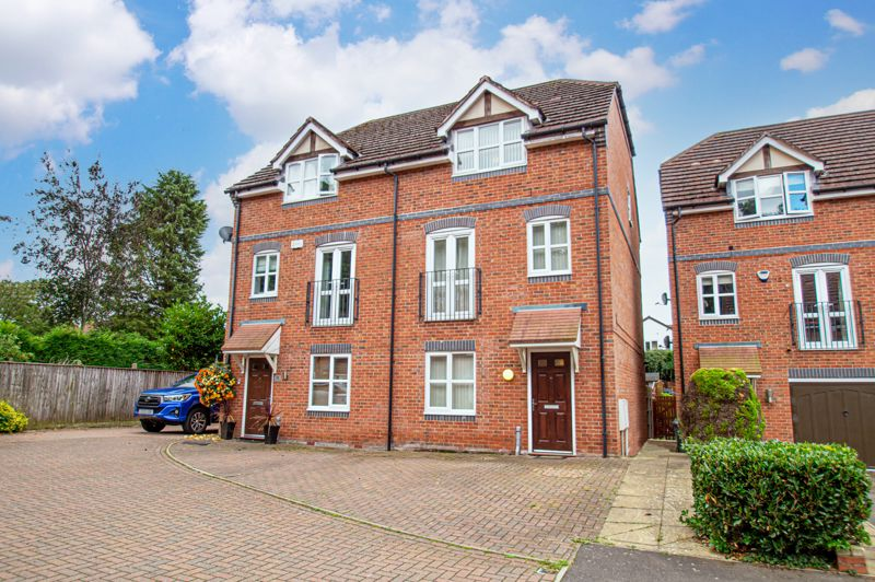 A three storey semi detached home, occupying a pleasant cul-de-sac location in Webheath.<br/><br/>The layout briefly comprises: Entrance hallway, leading to a rear utility room with sink, plumbing and access to the garden. Bedroom three is on the ground floor, along with a separate shower room and bedroom four which would make a good home office.  <br/><br/>Stairs rise to the first floor landing with airing cupboard. The spacious front lounge boasts a Juliette style balcony to double doors. The kitchen/diner over looks the rear garden and is fitted out with ample units, a gas hob with steel extractor above and built-in oven beneath, there is an inset sink, plus a fridge/freezer and polished floor tiling.<br/><br/>Stairs rise again to the second floor, gaining access to a modern family bathroom.  The master bedroom sits to front and presents a walk-in wardrobe, plus an en-suite shower room off. Bedroom two is placed at the rear and is lit by two sky light windows.<br/><br/>Outside: A driveway to front has room for 2 cars, there is also 2 further parking spaces one in front of the other placed to the far left of the neighbouring property. The sunny aspect rear garden is laid mainly with lawn having fences to perimeters, there is also a timber shed.<br/><br/>Other benefits: Gas central heating to radiators and double glazing.<br/><br/>Locally: The area is close to open countryside and is popular for its excellent schooling, Webheath has two convenience shops including a post office, a pub/restaurant and golf club. Excellent road transport links connect to Bromsgrove and Redditch for a good range of further facilities.<br/><br/>