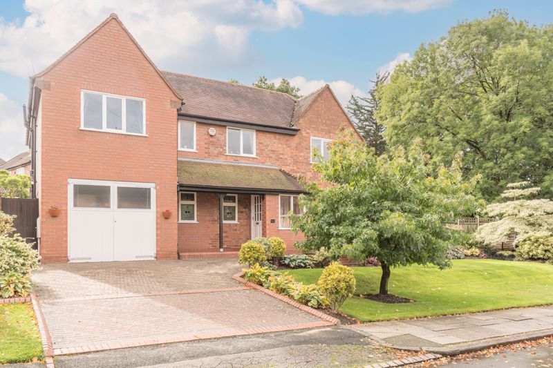 A fine example of a five bedroom detached property within the Bournville Village Trust estate. Occupying a desirable corner plot within this prestigious community, this property is offered with off road parking for multiple vehicles, spacious ground floor living space, well-proportioned bedrooms, and a well, presented, and meticulously maintained, south-facing rear garden. <br/><br/>In brief, the property comprises of the following: An entrance porch leading on to the hallway, welcoming entrance hallway, spacious lounge with feature fireplace, kitchen with breakfast bar, sitting room to the rear, large garage, and ground floor WC. Following the stairs from the hallway to the first floor landing, the first floor comprises of a large master bedroom with built-in storage and inset sink, two double bedrooms (one of which is currently used as a study), two single bedrooms with built-in storage, a family bathroom, boiler cupboard, and separate shower room and WC. <br/><br/>To the front of the property is a driveway large enough to accommodate multiple vehicles, a large lawn and mature trees and shrubbery. A side gate allows direct access to the rear garden from the front of the property without passing through the living space. The multi-aspect rear garden is extensive and encompasses a paved patio area stepping up to a lawn, with raised flowerbeds featuring a wide range of lovingly cared-for plants including a range of flowers, shrubbery, and trees. A vegetable patch with compost bins is positioned to the side of the property. <br/><br/>The property is located within the Bournville Village Trust estate. Founded in 1900 by George Cadbury, the estate is renowned for its sought-after schools, including Bournville Village Primary School and the nearby Kings Norton Girls' and Boys' Secondary Schools, delightful parks and other local amenities. The University of Birmingham, Cadbury Works at Bournville and various local hospitals including the Queen Elizabeth Hospital in Selly 